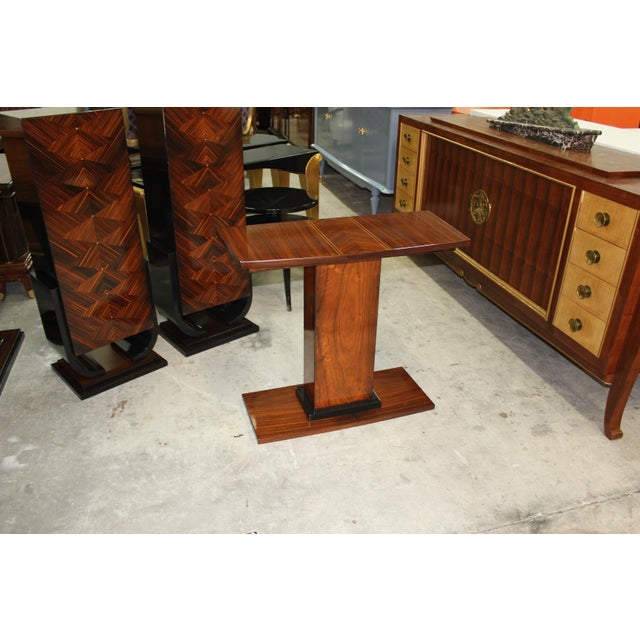 Image of French Art Deco Palisander Console Table