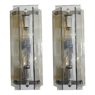 Mid-Century Modern Murano Glass Sconces - A Pair