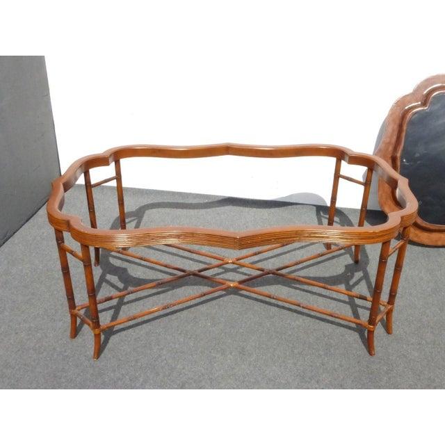 Maitland Smith Rattan Leather Coffee Table Chairish