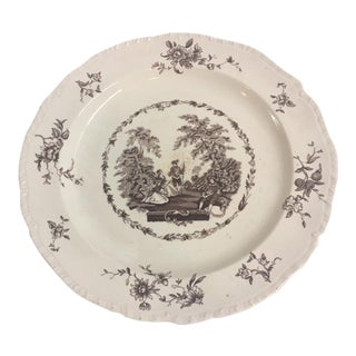 Antique Mason's Brown & White Plate