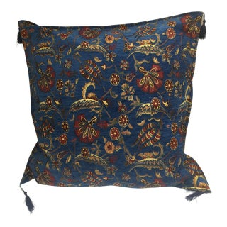 "Parliament Blue Kilim Patterned 26""x 26"" Pillow Cover"