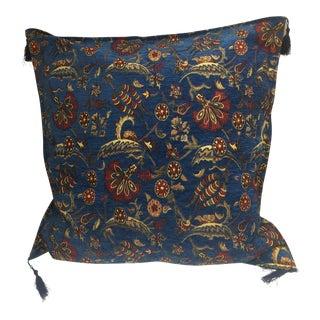 Parliament Blue Kilim Patterned Pillow Cover