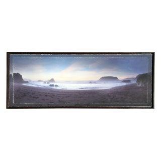 Ocean Panoramic in Handmade Frame