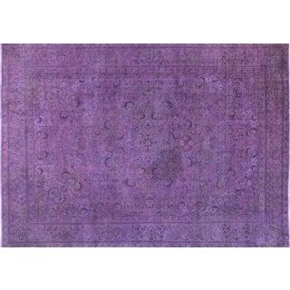"Purple Overdyed Rug - 8'1 x 11'5"""