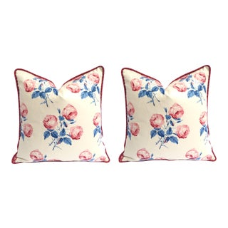 Matched Pair of Cowtan & Towt English Bowood Pillow Covers