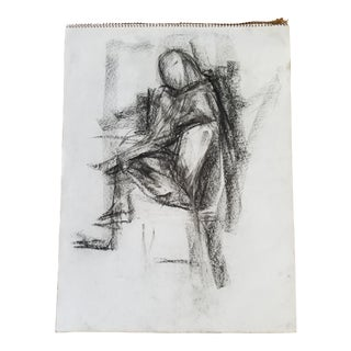 Abstract Sitting Figure Drawing