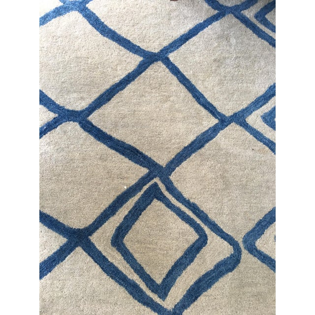"""Hand-Tufted Utopia Lucca Ivory Wool Rug - 9'6"""" x 13'6"""" - Image 2 of 3"""