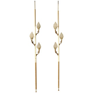 Vintage Hollywood Regency Tension Pole Lamps - 2