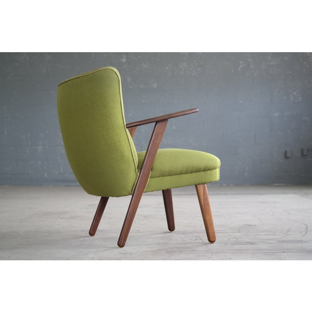 Danish Mid-Century Easy Chair in the Style of Madsen and Schubel - Image 9 of 9