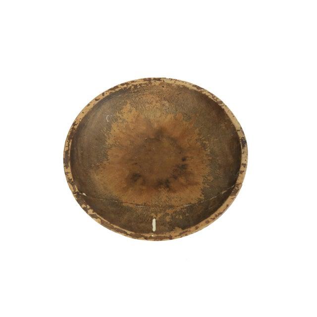 Image of Antique Primitive Wood Round Dough Bread Bowl