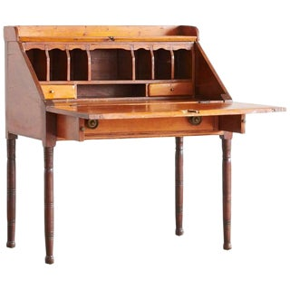 Antique Pine Drop-Leaf Secretary or Desk