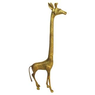 Vintage Tall Brass Giraffe Figure
