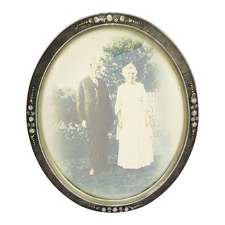 Early Gesso & Wood Convex Glass Frame