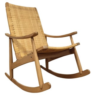 Mid-Century Cane Back Rocking Chair