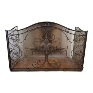 French Antique Reproduction Fireplace Screen