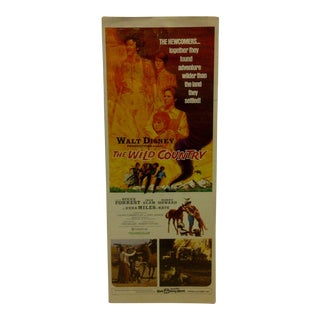 "Vintage Movie Poster ""The Wild Country"" Steve Forrest & Ronny Howard - Walt Disney 1971"