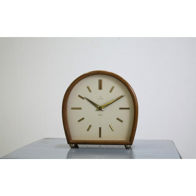 "Image of Junghans Table Clock, ""Exacta"" Series"
