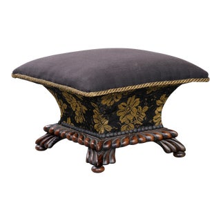 English Antique Regency Ladies Footstool