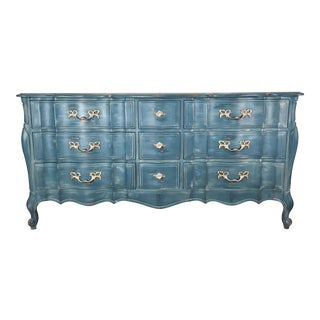 Blue French Provincial Dresser Buffet