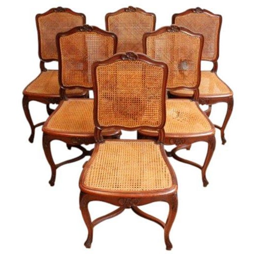 Vintage Louis XV Rococo Dining Chairs - Set of 6 - Image 2 of 7