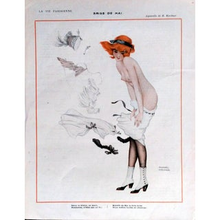 "Raphael Kirchner 1913 La Vie Parisienne ""May Breeze"" Print"
