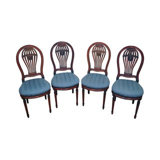 French Louis XVI Painted Dining Chairs - Set of 4