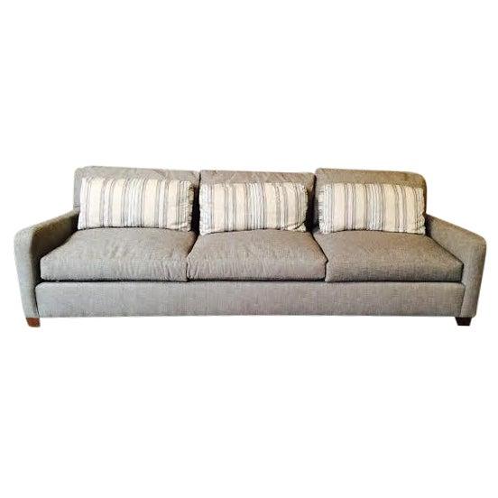 Huntington House Grey and Striped Sofa - Image 1 of 6