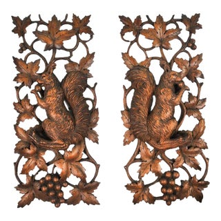 Black Forest Wall Adornments - A Pair