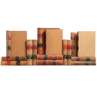 Vintage Distressed Law Books - Set of 15