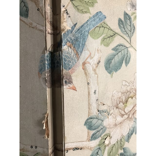 Gracie Chinoiserie 4 Panel Wallpaper Screen - Image 3 of 11
