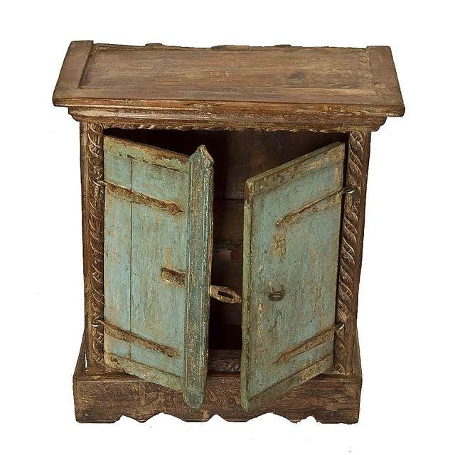 Rustic primitive reclaimed wood nightstand chairish for Rustic wood nightstand