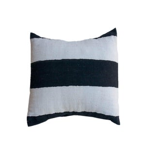 African Style Cream and Black Striped Cushion