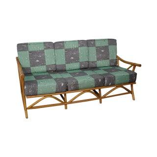 Mid-Century Rattan Frame Sofa