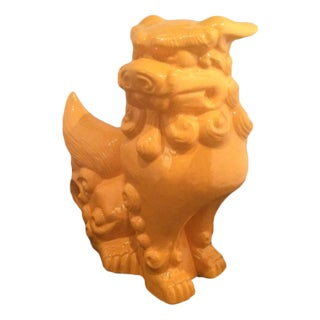 "10"" Vintage Glazed Ceramic Foo Dog"