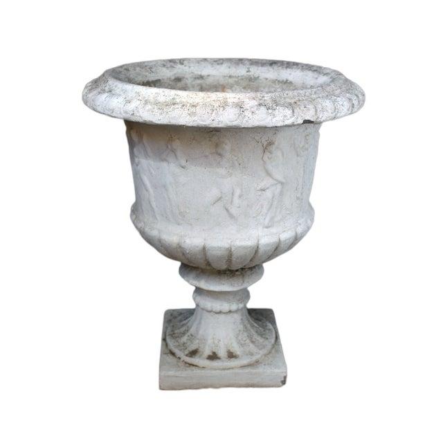 Antique Cement Urn - Image 1 of 4