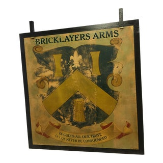 English Double Sided Metal Pub Sign