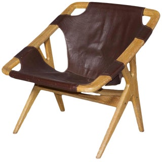 Danish Leather Arne Ruud Holmenkollen Chair for Norcraft
