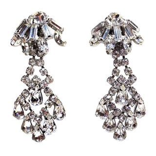 Weiss Clear Rhinestone Drop Earrings