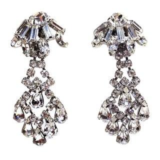 Weiss Clear Rhinestone Drop Earrings