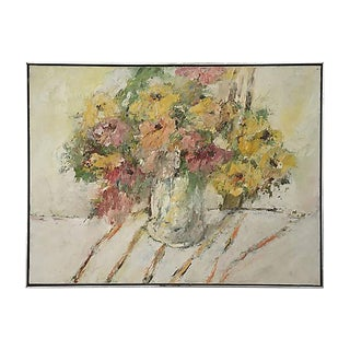 Vintage Abstract Vibrant Floral Painting