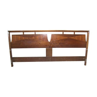 John Stuart Walnut King Size Headboard