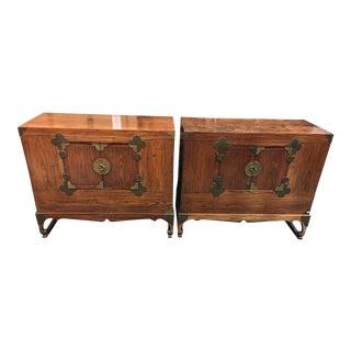 Korean Elm Cabinets - A Pair