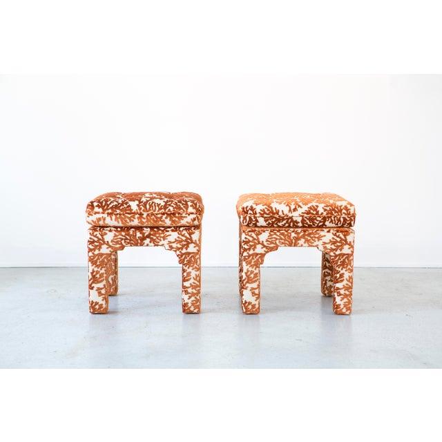 Image of Set of Milo Baughman Stools Freshly Reupholstered