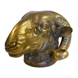 Solid Brass Ram Bust