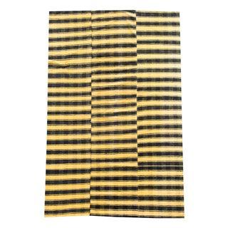 Vintage Turkish Modern Sunrise Handmade Flatweave Rug - 5′7″ × 8′5″