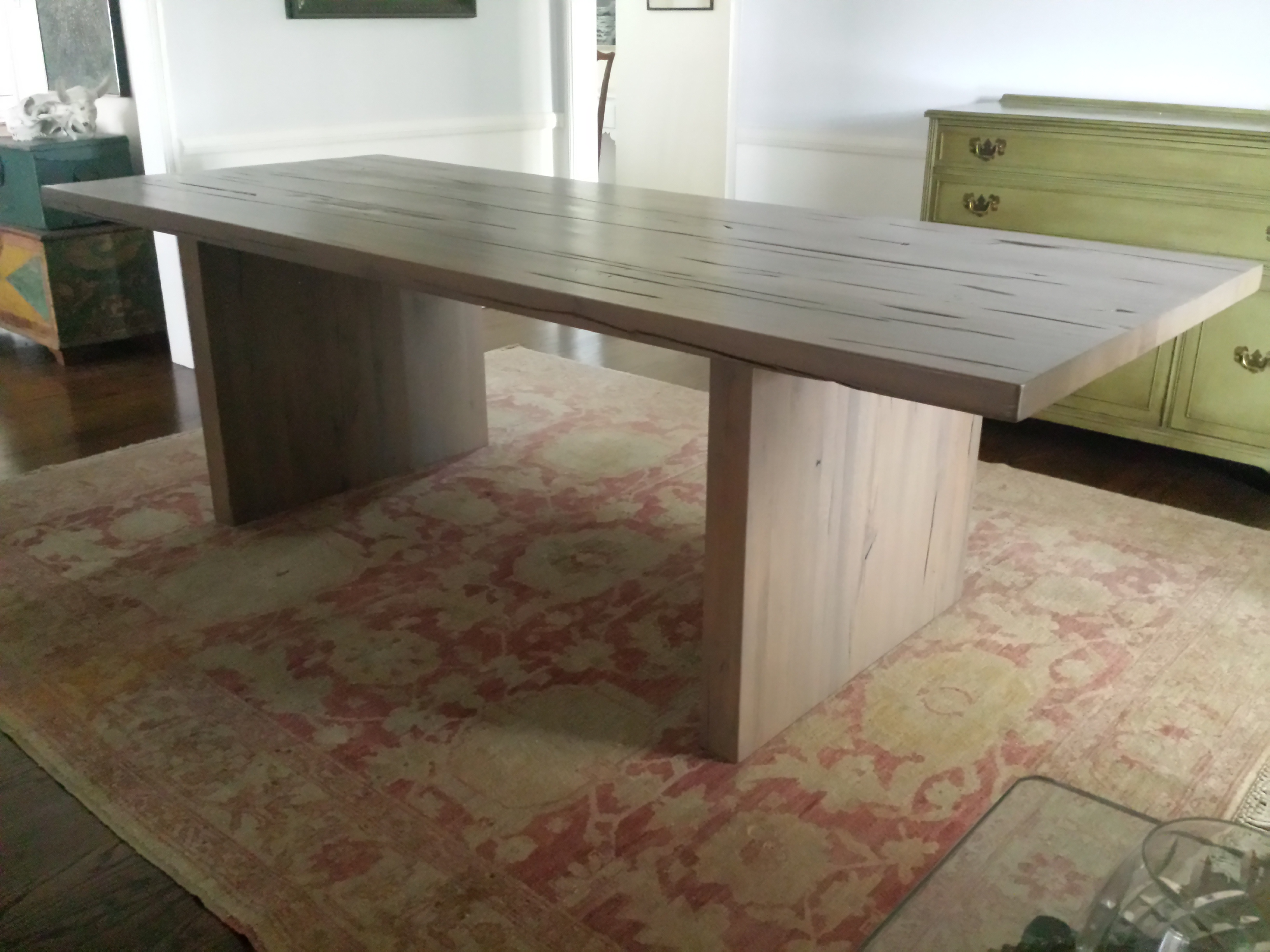 Restoration Hardware Reclaimed Russian Oak Table   Image 2 Of 7