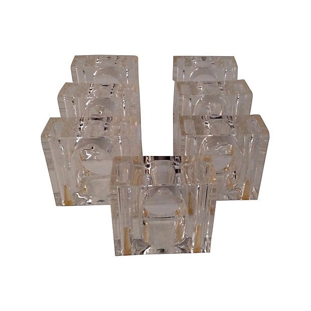Lucite Napkin Rings, Set of 7 - Image 1 of 4