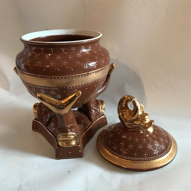 Image of Limoges Style Porcelain Lidded Tureen