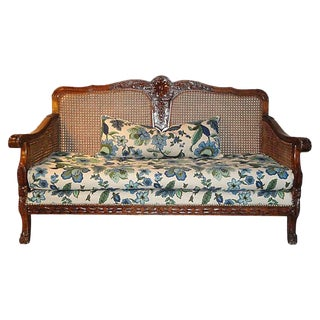 Caned Colonial Plantation Sofa