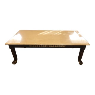 Marble Coffee Table With Gold Leaf Designs in Mint Condition